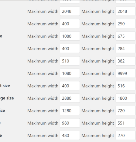Divi Theme image sizes