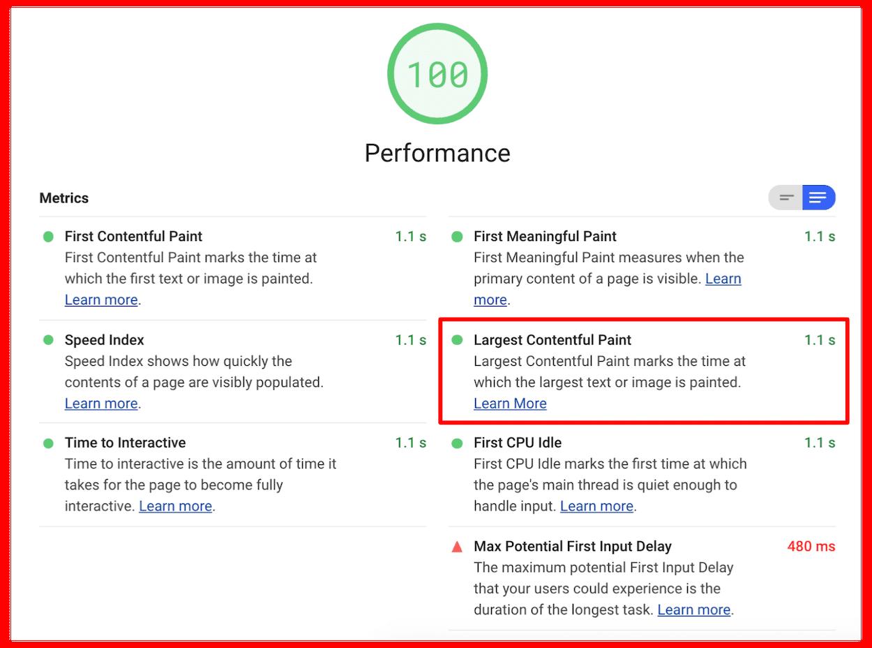 Google Lighthouse Report